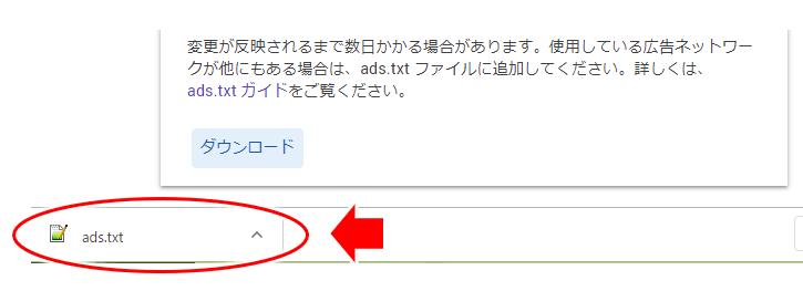 ads.txt がダウンロードされた画面